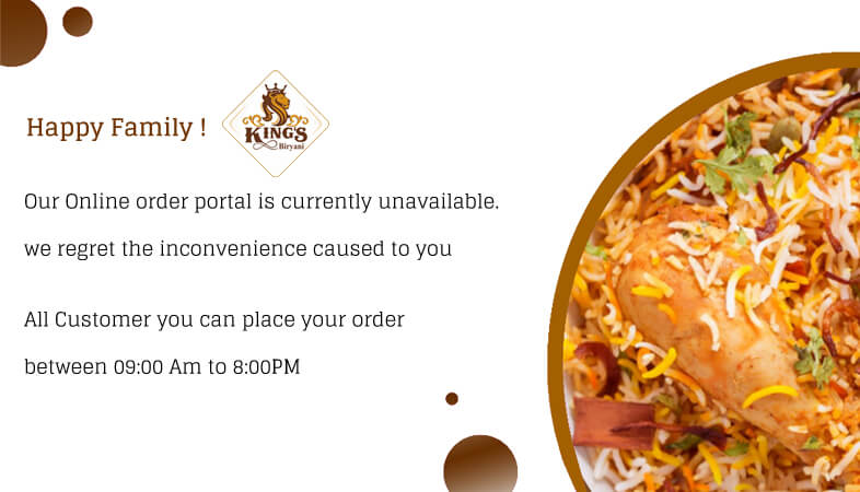 Order Placed between 09:00Am to 8:00Pm